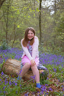 Surrey Family Photography in the Bluebells