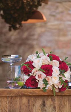Winter Wedding Bouquet at Walton Castle