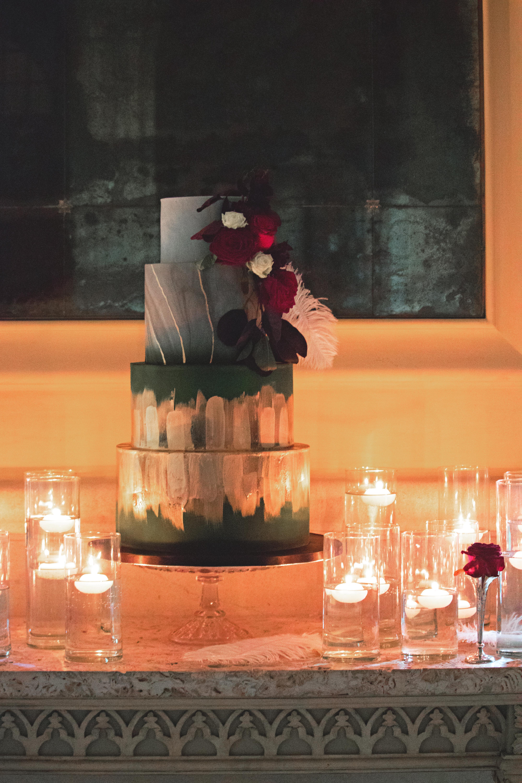 1920s Themed Wedding Cake at Euridge Manor Reception