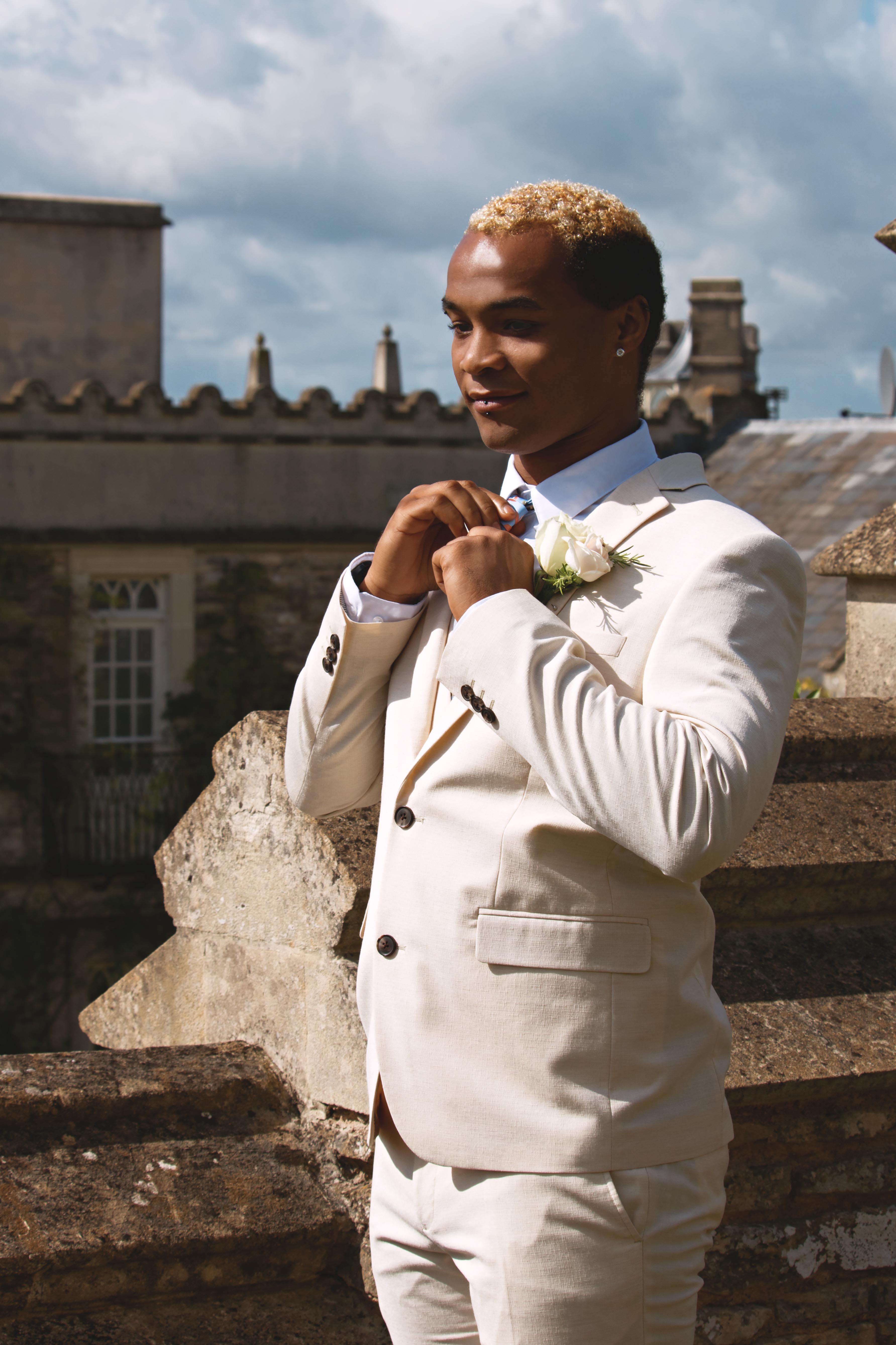 Dramatic Outdoor Groom Shots at Euridge Manor