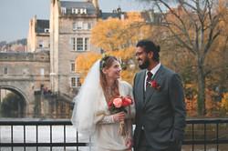 Winter Wedding Documentary Couple Shot Photography
