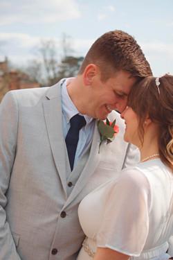 Romantic Couple Portrait at Guildford Castle