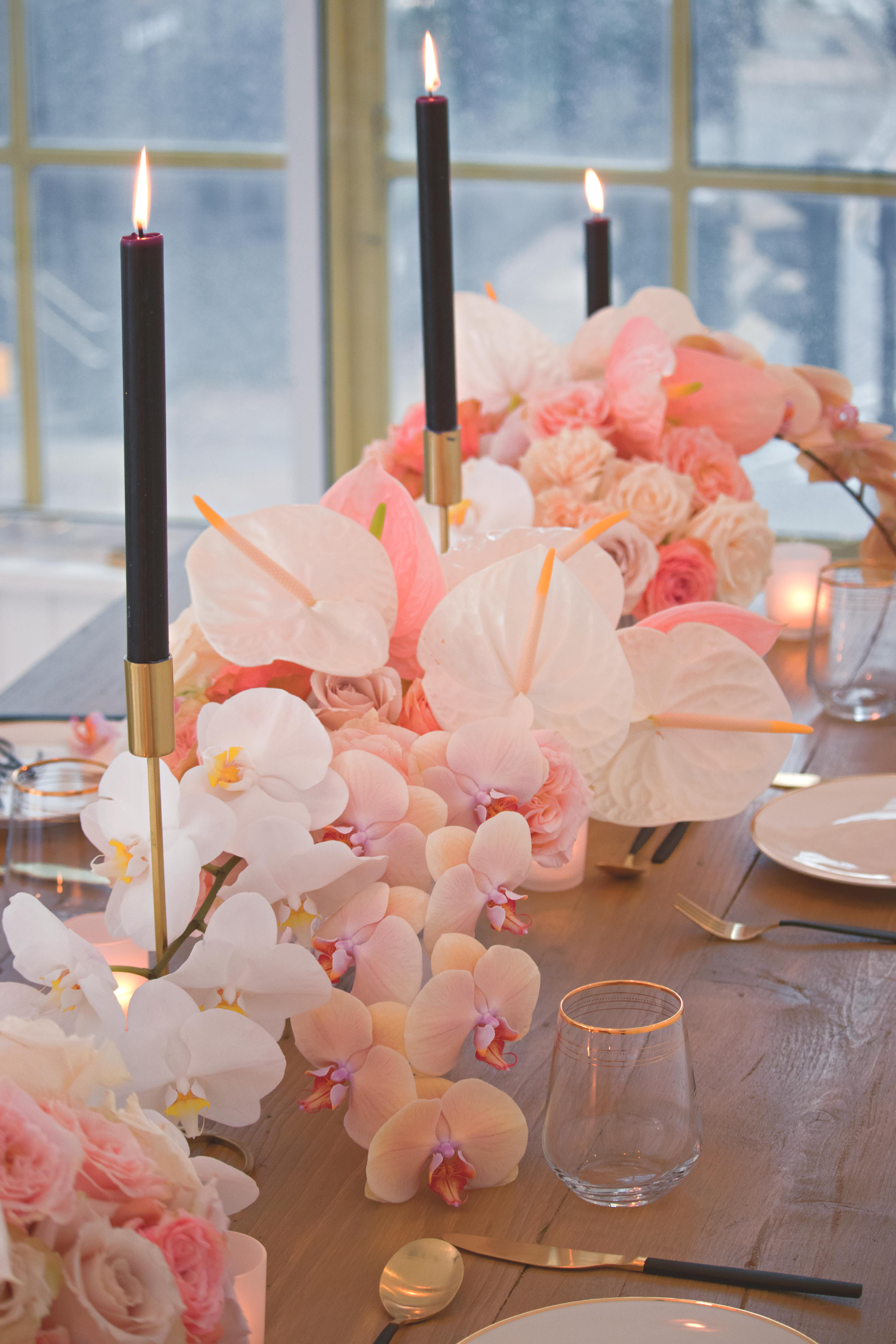 Orchid Wedding Breakfast Table
