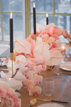 Orchid Wedding Breakfast Table
