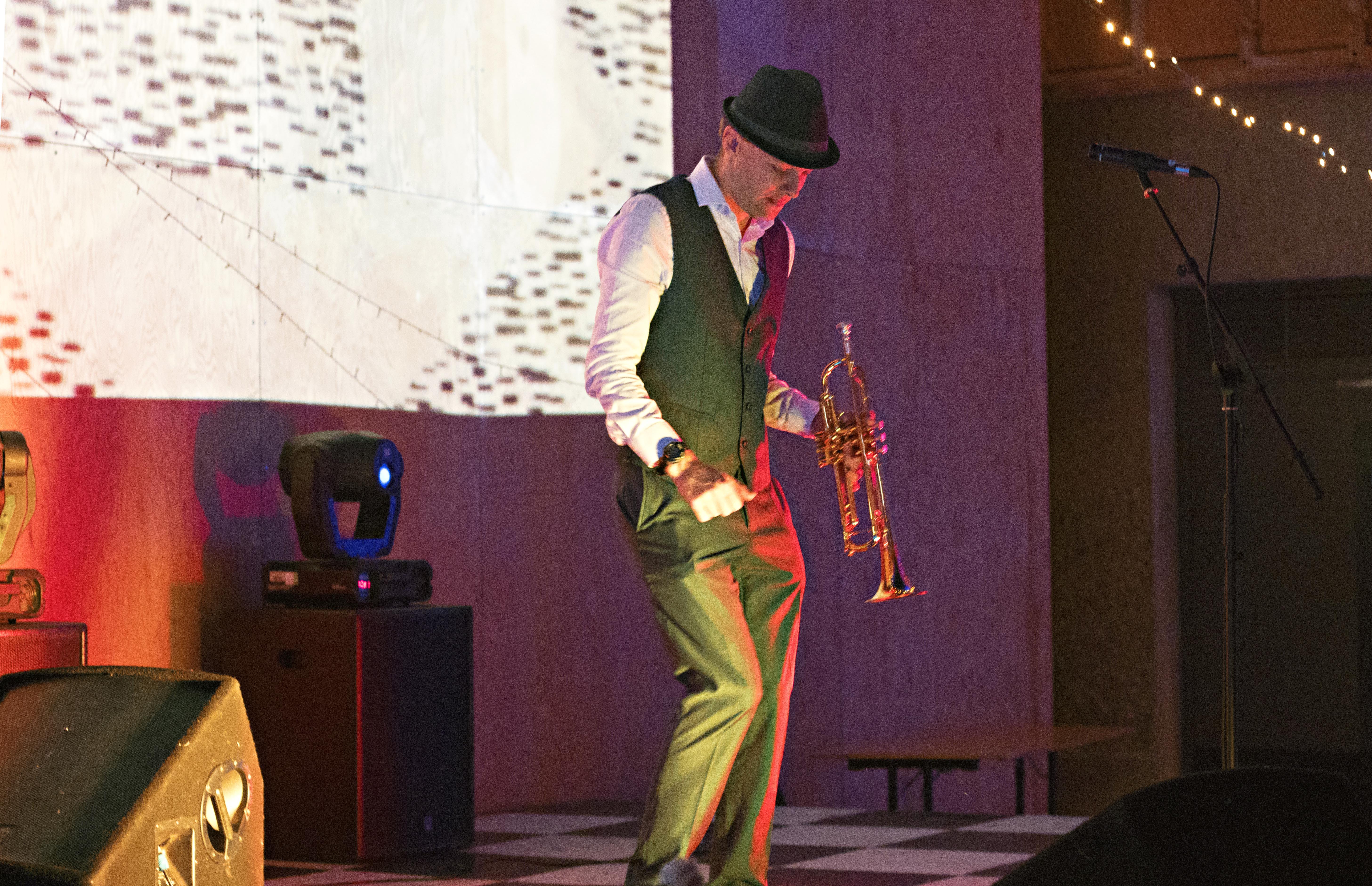 Dan The Trumpet Man Dancing & Performing