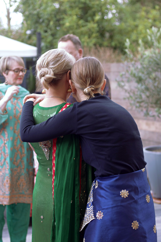 Mother & Daughter Celebrational Moment