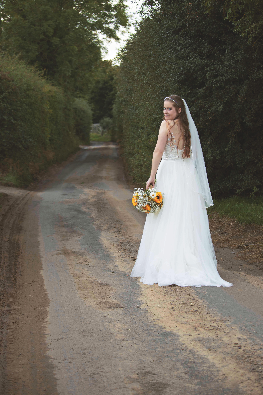 Relaxed English Barn Wedding Bridal Portrait