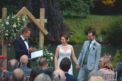 Relaxed Outdoor Wedding Ceremony at Busbridge Lakes