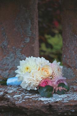 Cream, Pink & Peach Wedding Bouquet