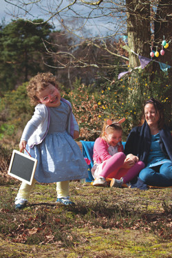 Sweet Family Portraits at Easter time