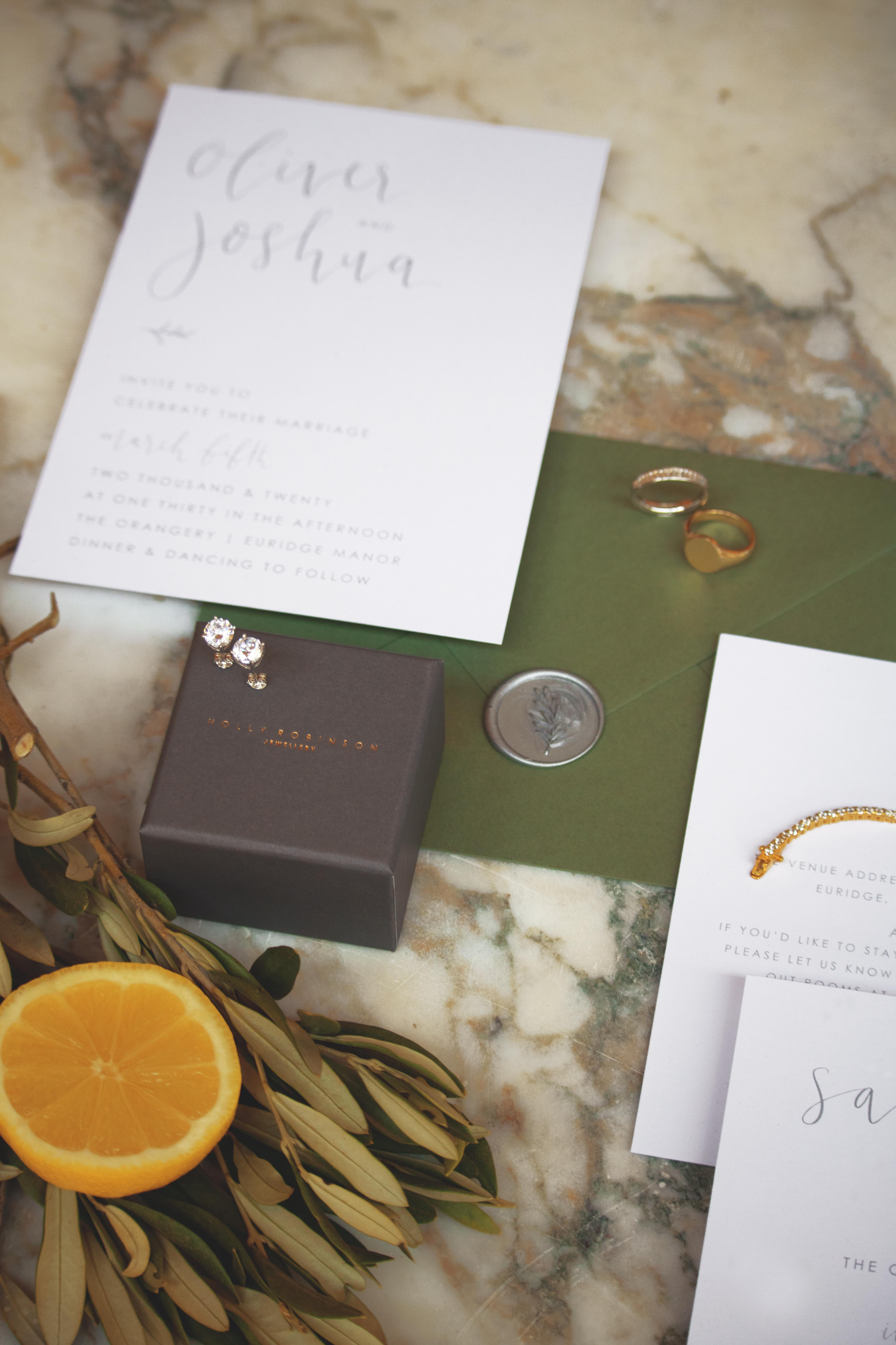 Tuscan Themed Wedding Stationery
