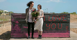"""Relaxed Couple Portraits by """"I Love You Graffiti"""""""
