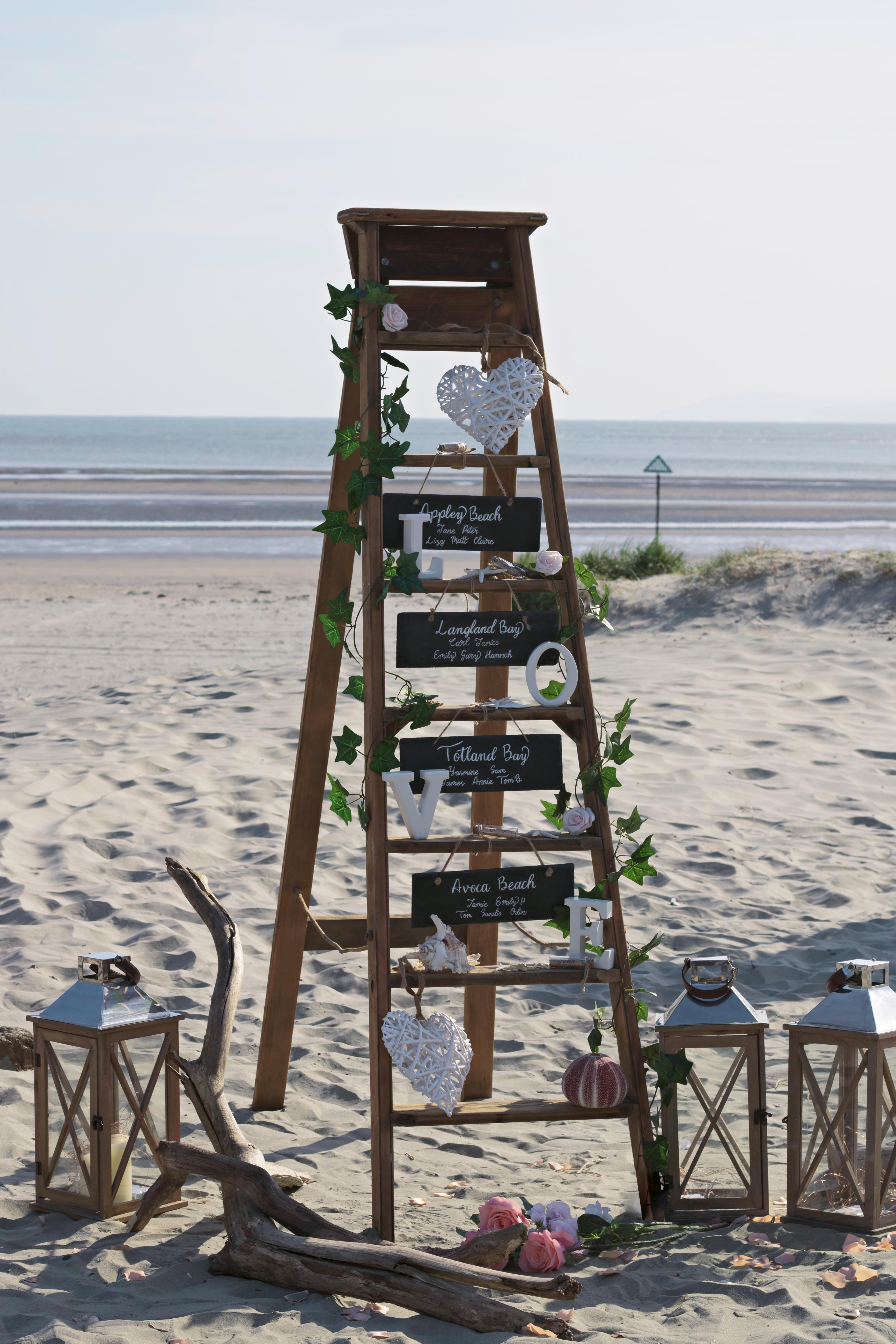 Stunning Ladder for Beach Wedding in Wittering