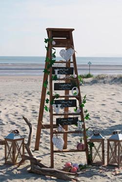 Stunning Ladder for Beach Wedding in Wittering