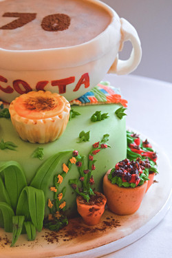 Handmade 70th Birthday Cake
