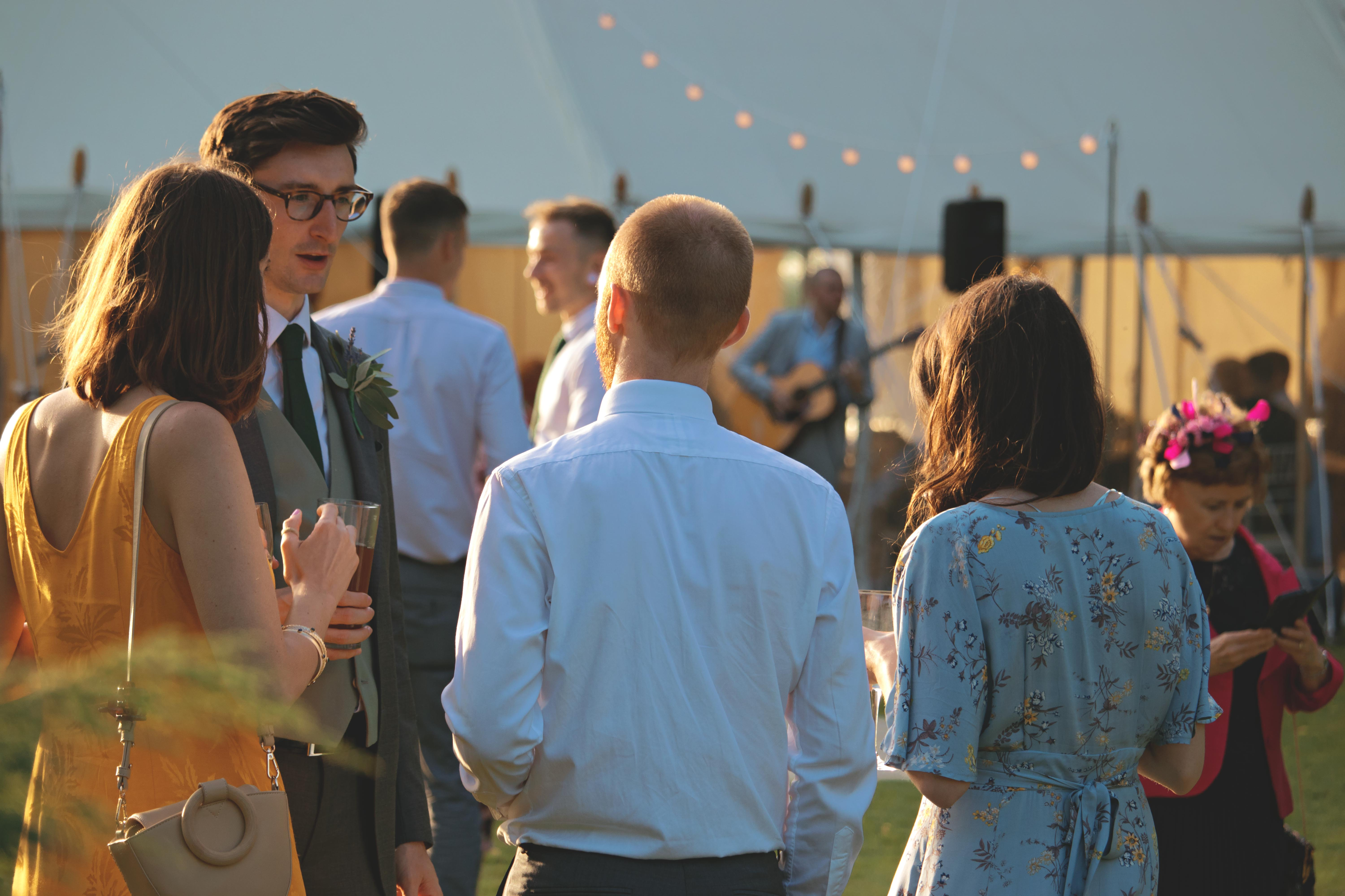Sunset Wedding Guest Photography