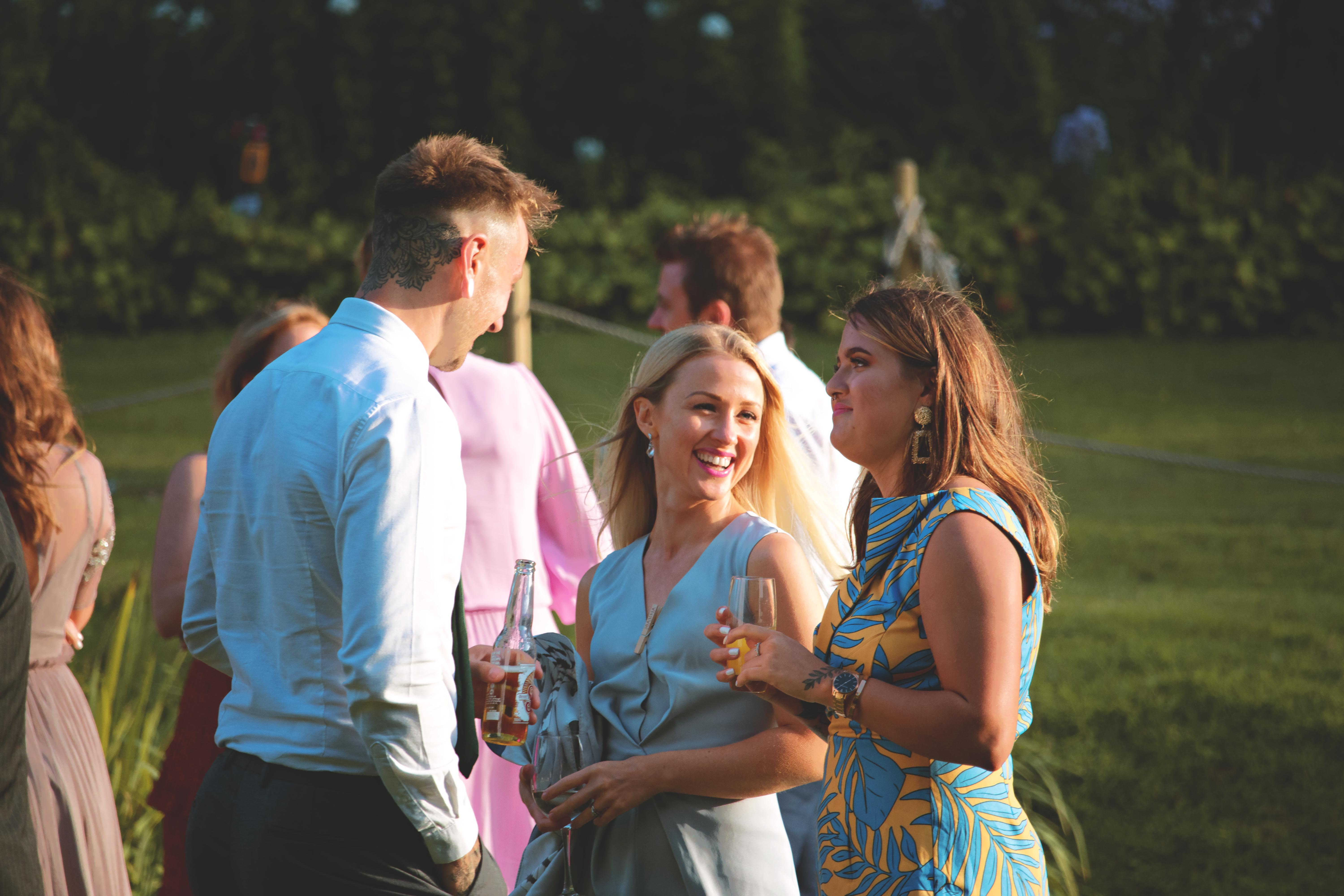 Wedding Guests Chatting