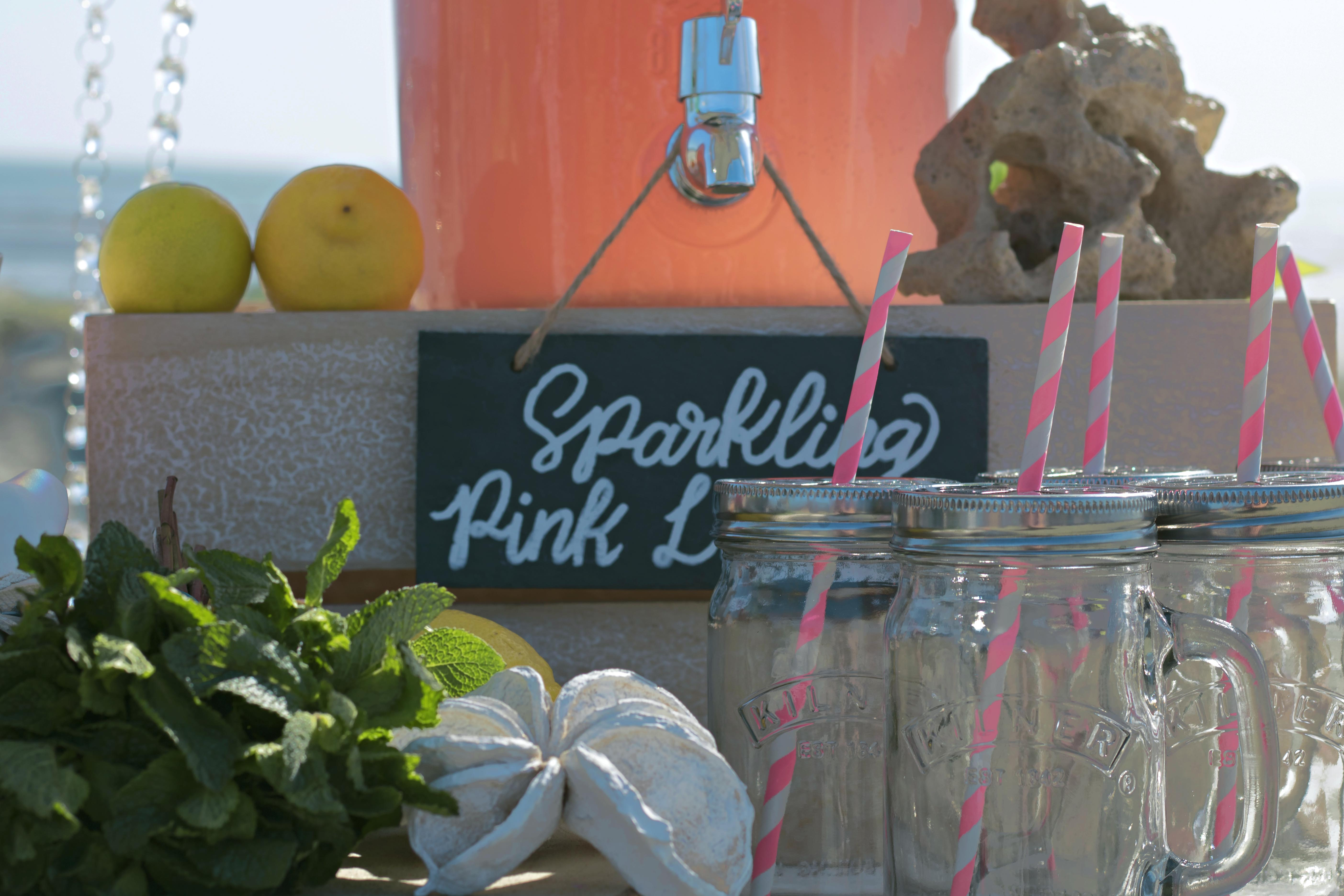 Relaxed Beach Wedding Drinks Cart
