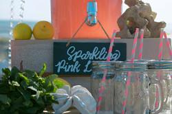 Relaxed Beach Wedding Drinks Cart