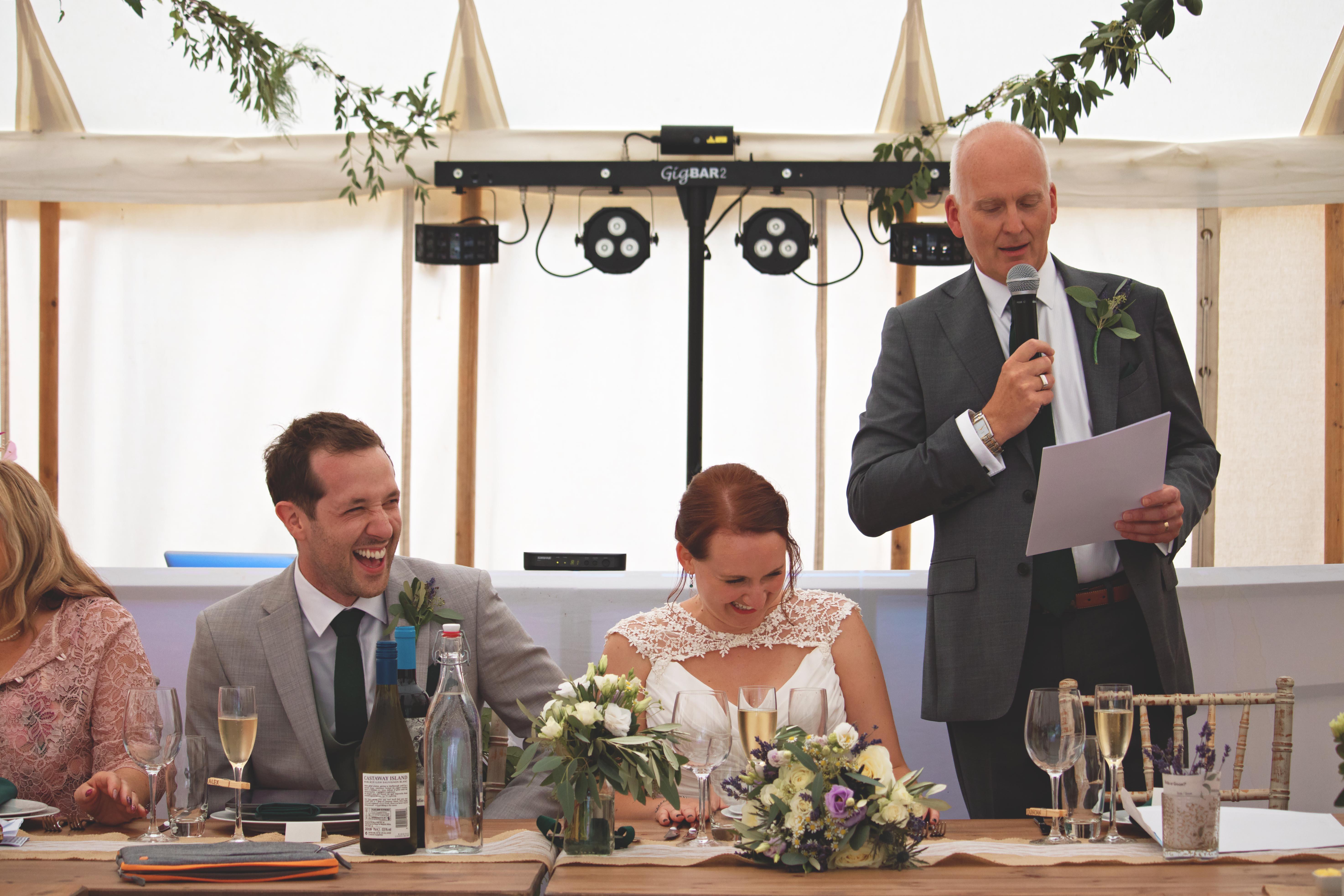 Summer Surrey Wedding Speeches