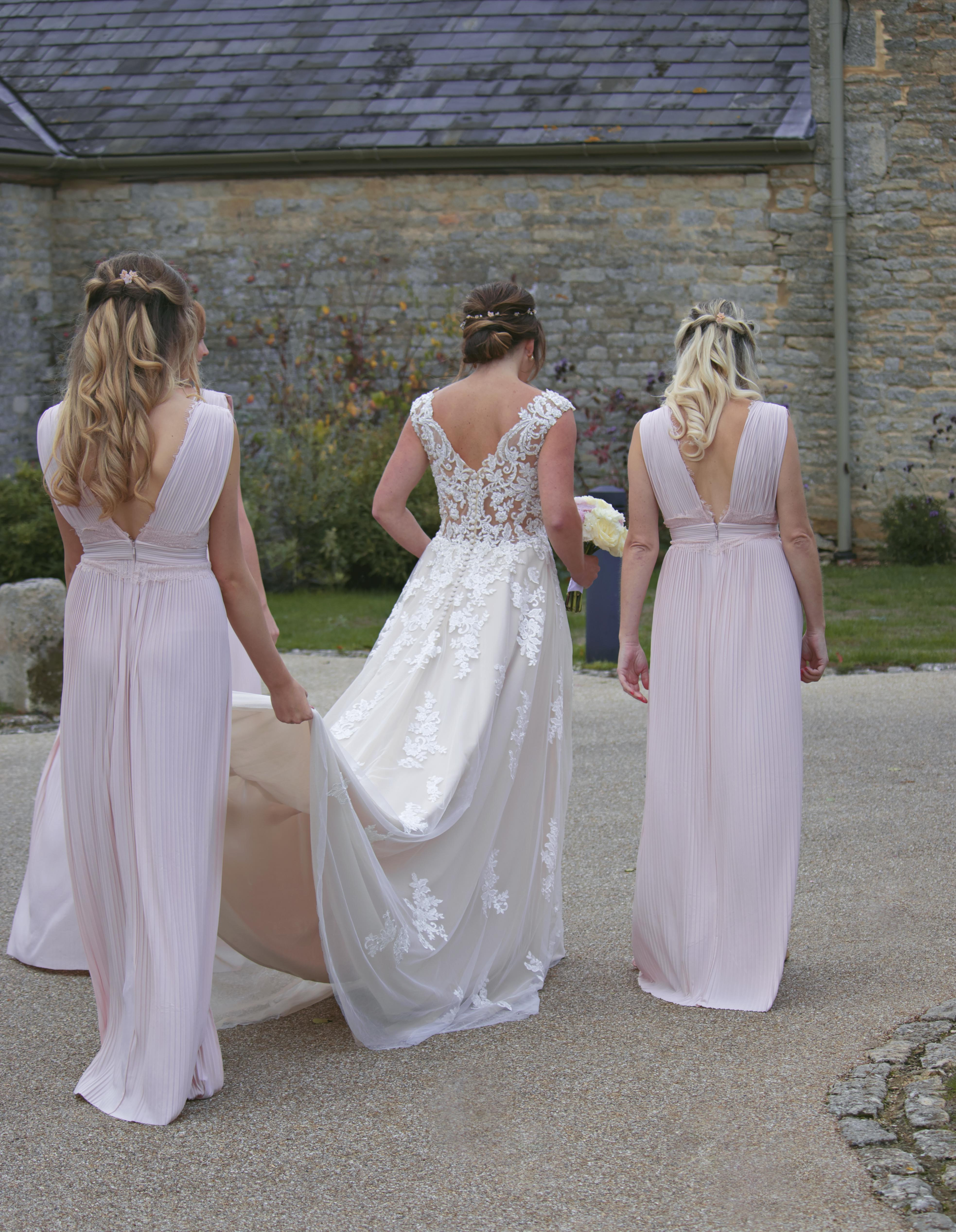 Walking with my Bridesmaids