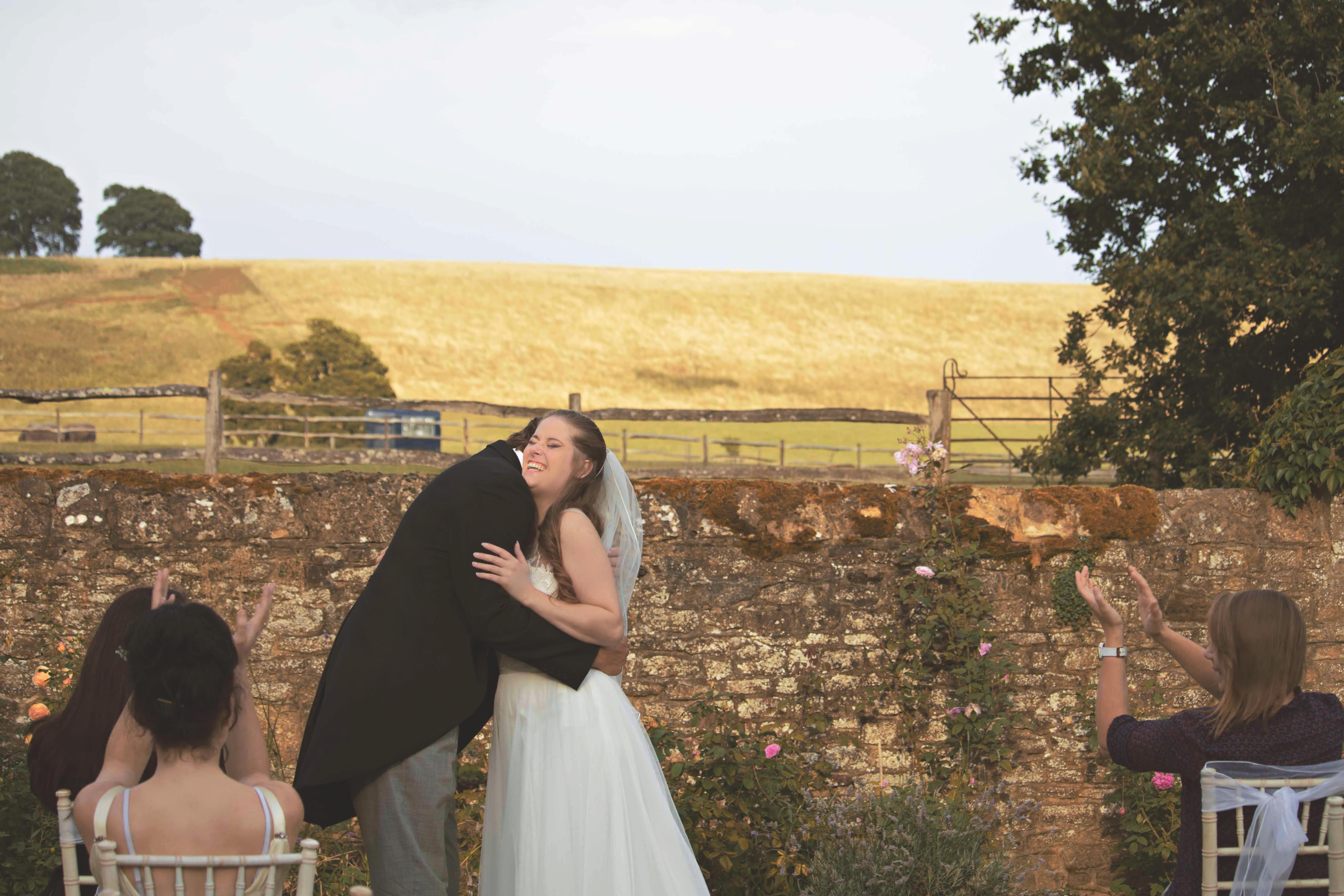 Just Married Outdoor Relaxed English Wedding Ceremony