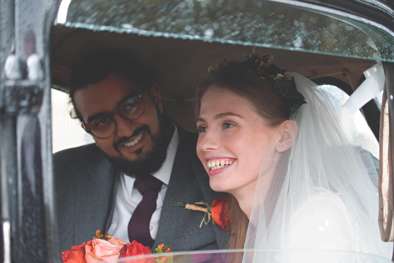 Wedding Car Couple Shots in Bath