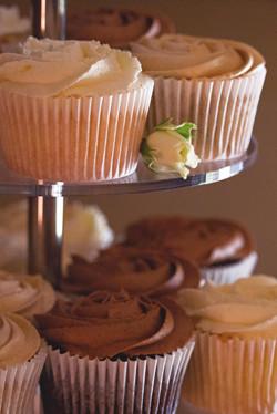 Beautiful Wedding Cake Detail Shot