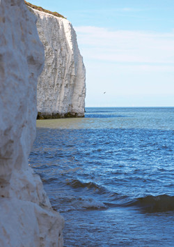Stunning White Costal Cliff Photographgy