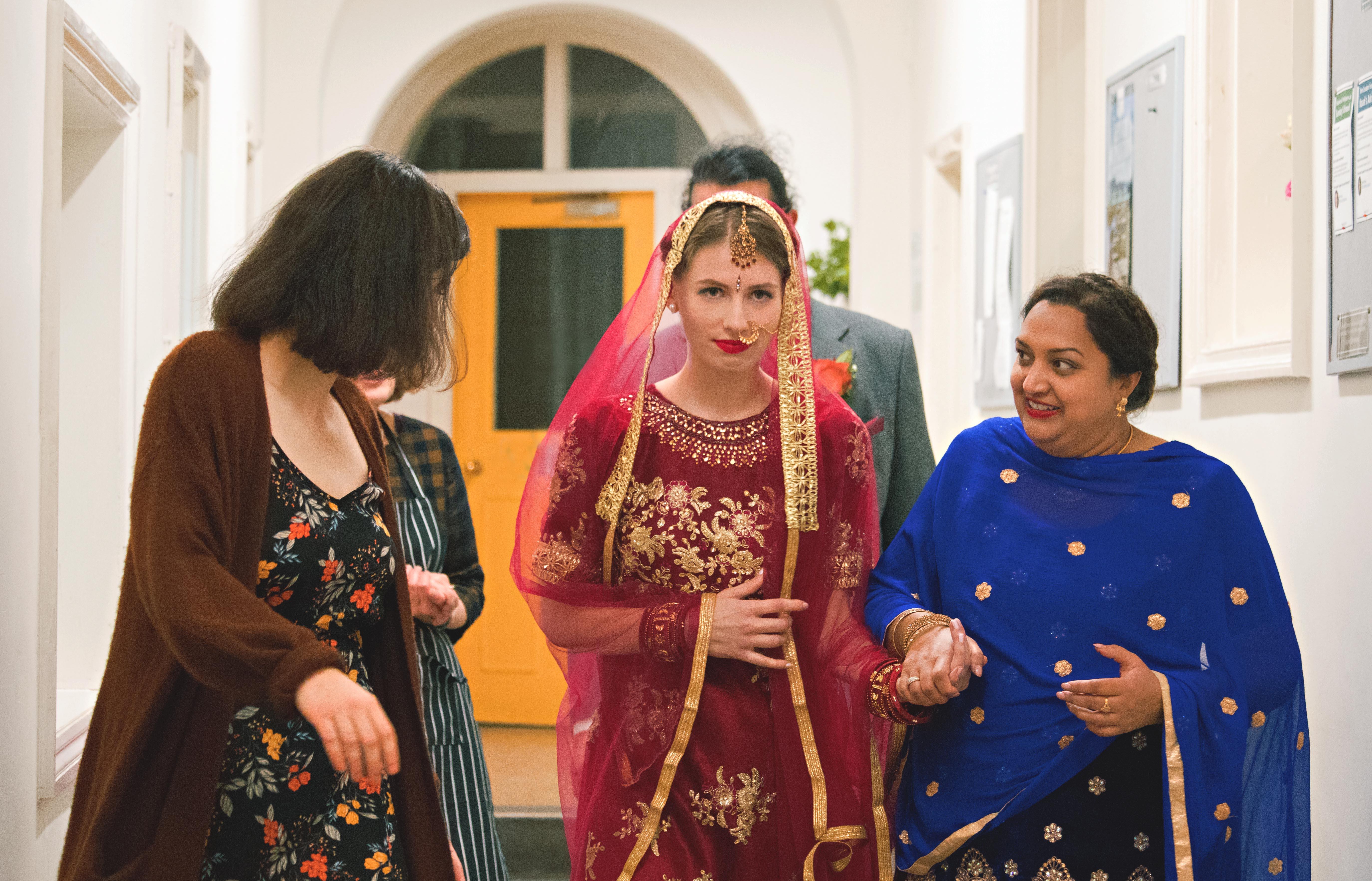 Asian English Wedding Fushion Dress