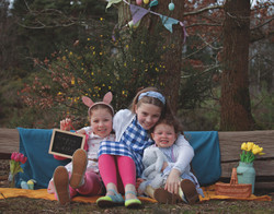 Relaxed Family Portraits at Easter Time in Surrey