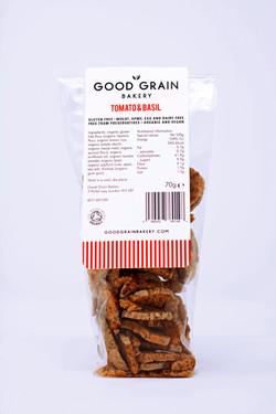 Good Grain Bakery Crostini Tomato & Basil Back