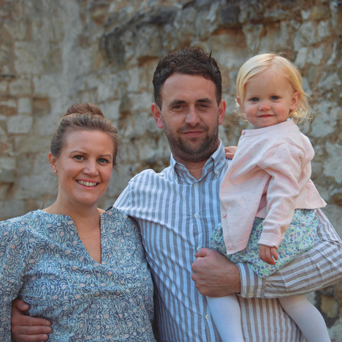 Family Photography at Guildford Castle