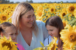 Family Photoshoot at the Sunflowers