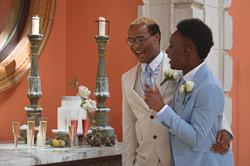 Grooms & Their Tuscan Themed Wedding Cake