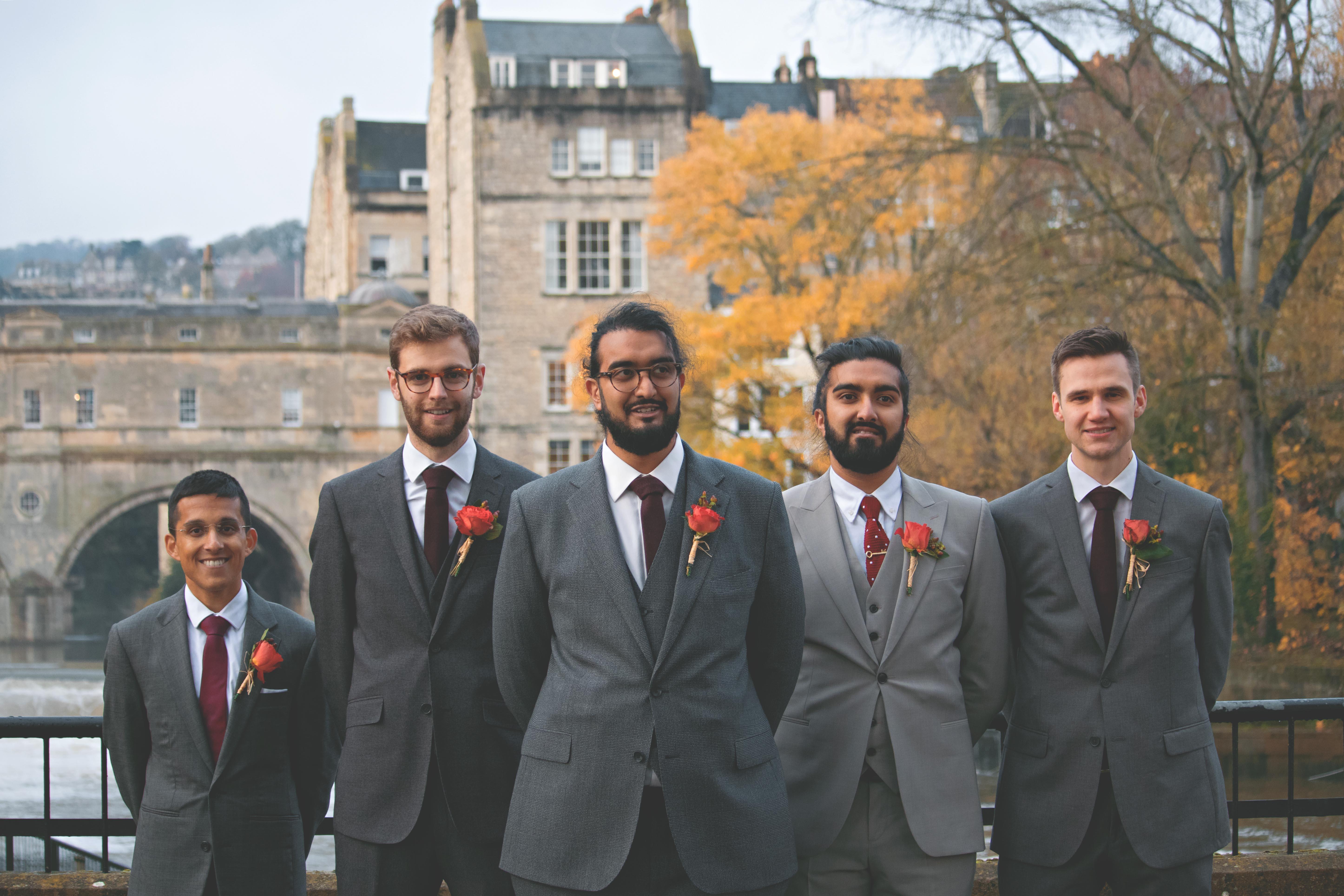 Groomsmen Shots in Somerset Winter Wedding