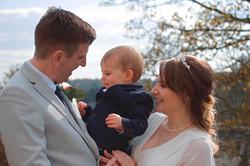Family Wedding Portrait at Guildford Castle