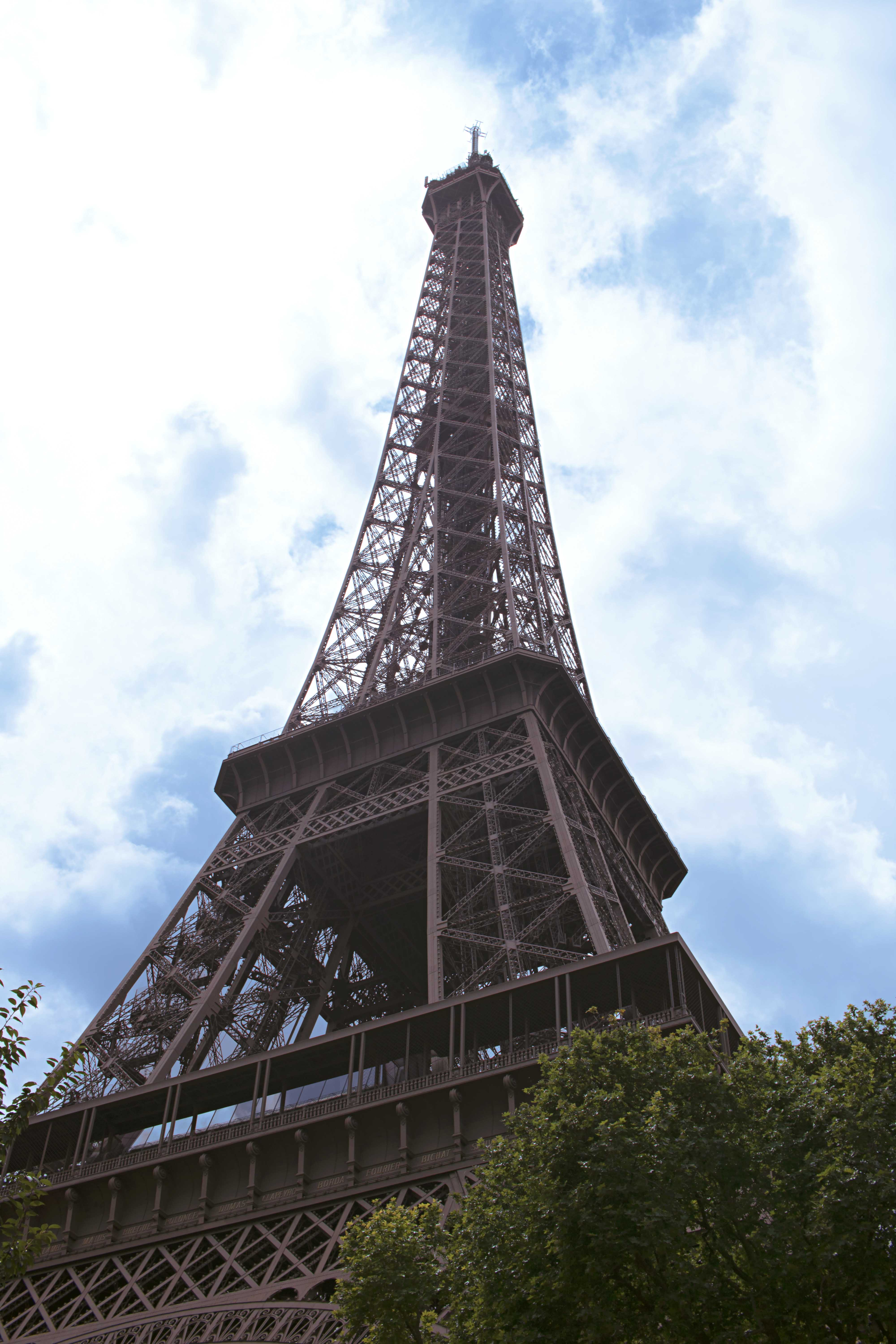 Structural Photography of The Eiffel Tower