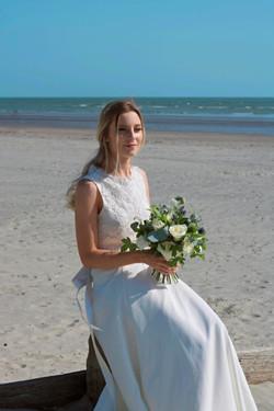 Beach Wedding in U.K. Bridal Portraits