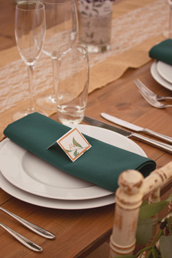 Wedding Placesetting Details