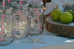 Beach Wedding Drinks Cart in Wittering