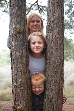 Family Portraits at Horsell Common in Autumn