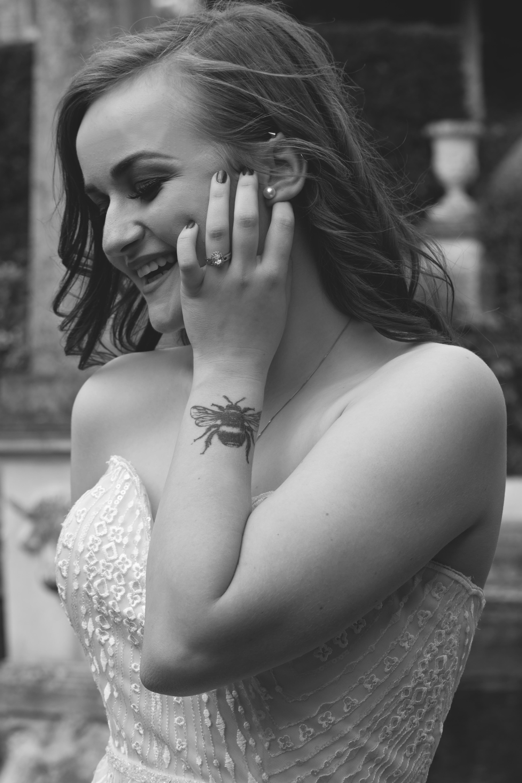 Black & White Stunning Bridal Portrait at Euridge Manor