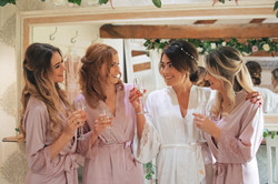 Bridal Prep Caswell House Pink Robes