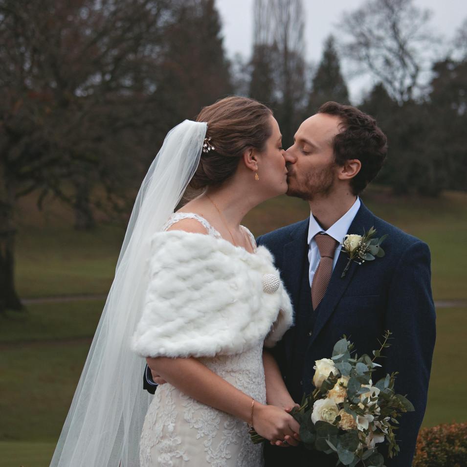 Winter Wedding Couple Shots