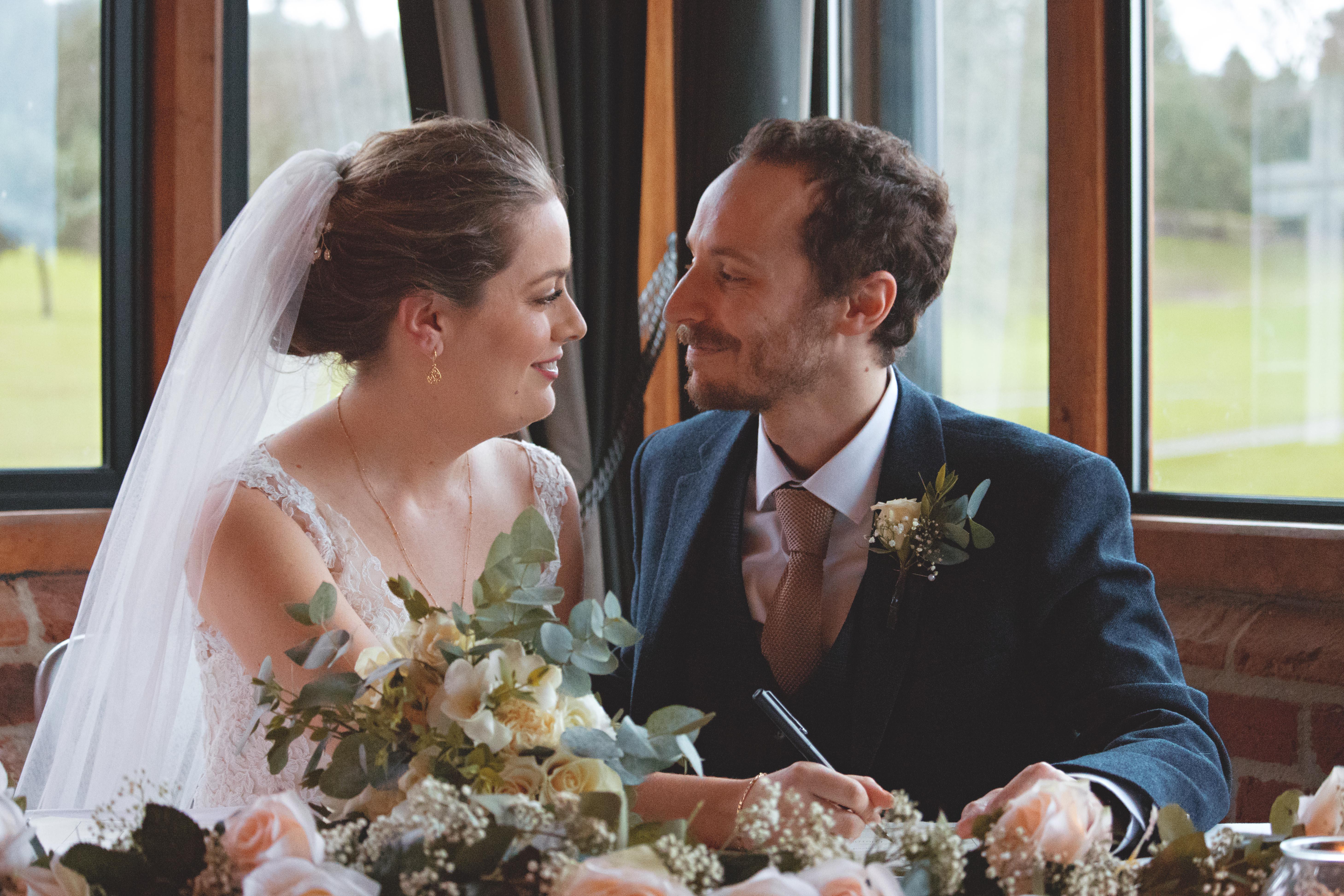 Signing the Wedding Register in Surrey
