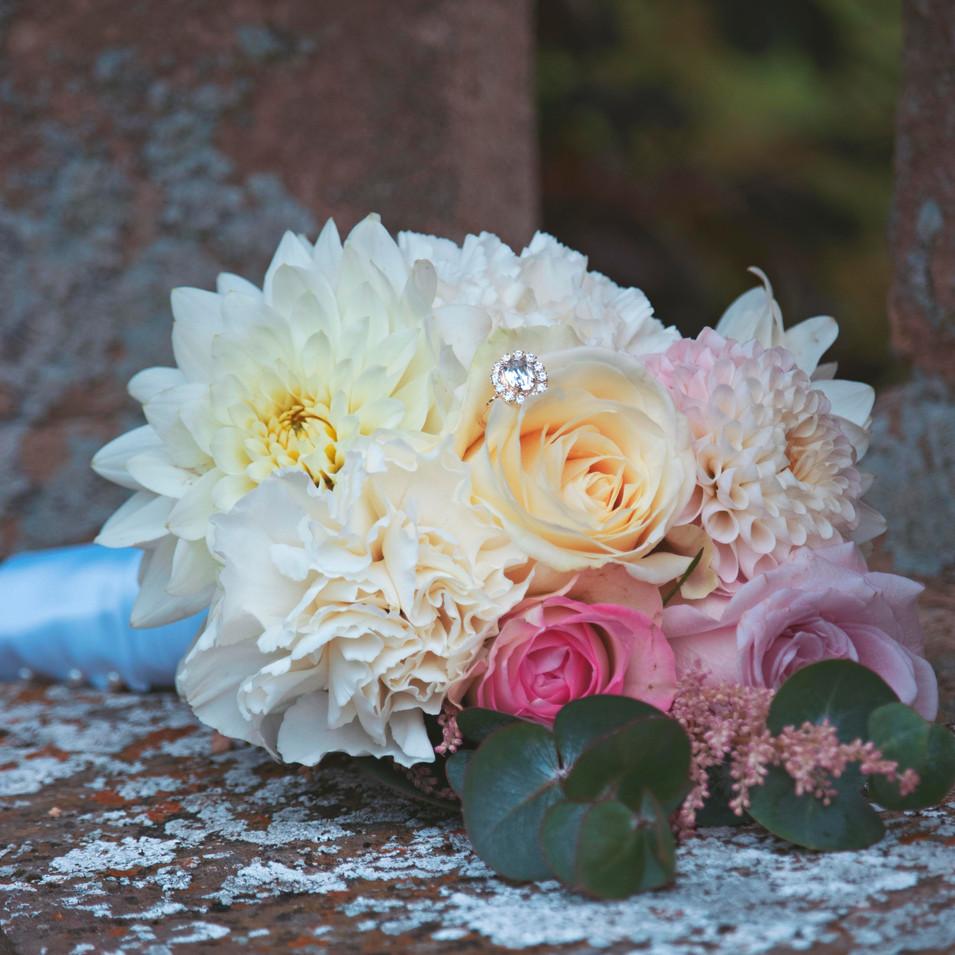 Beautiful Spring Wedding Bouquet