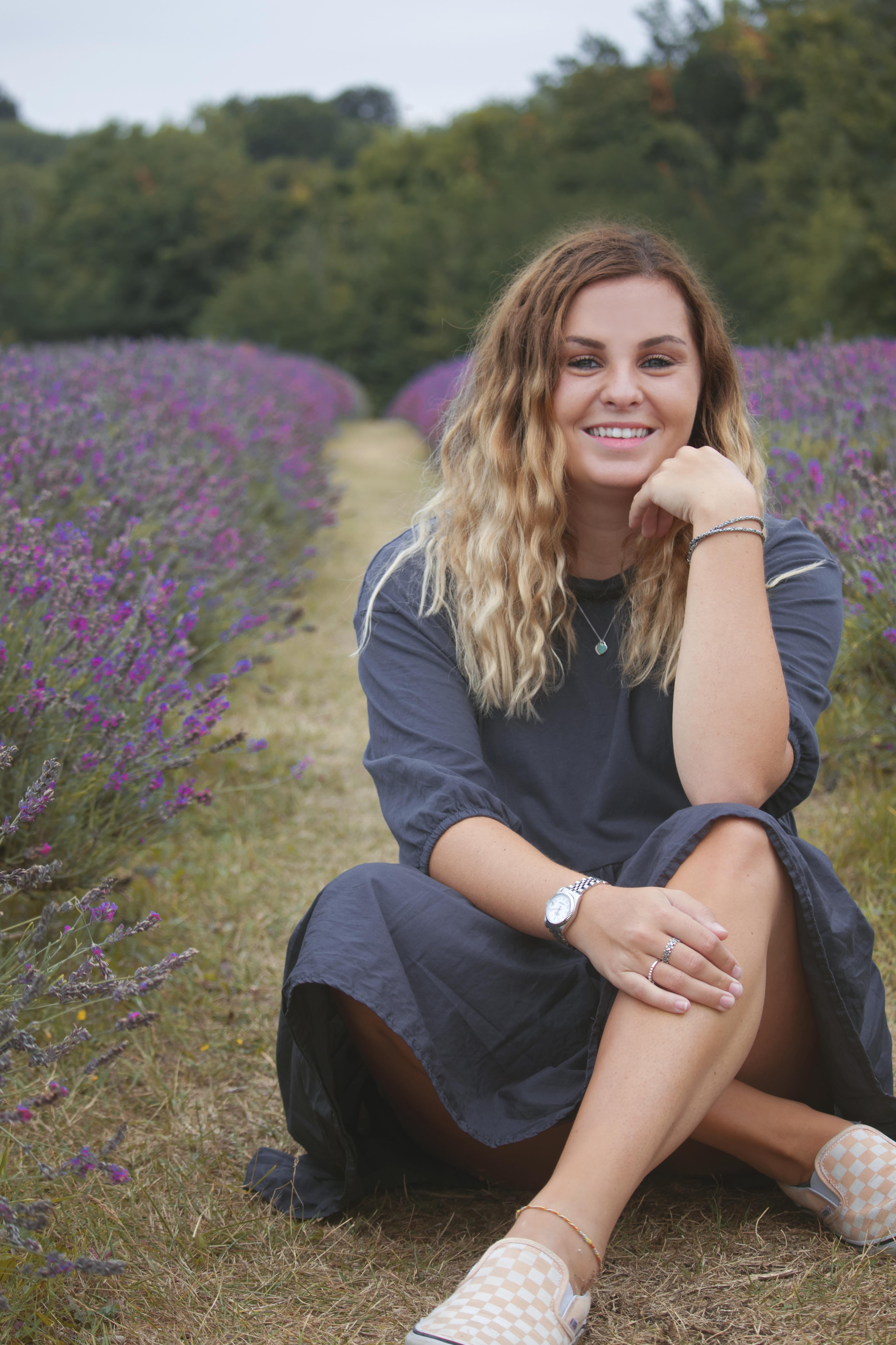 Relaxed Branding Photography at the Lavender Fields