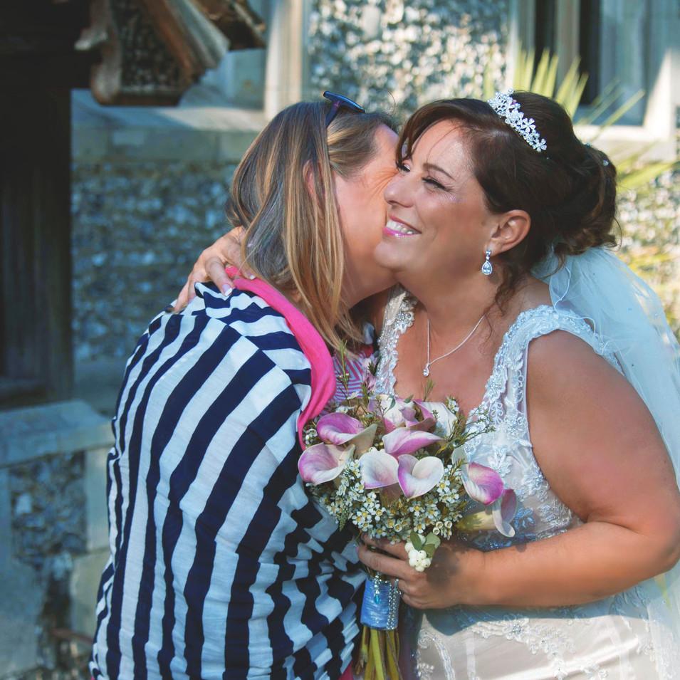 Bride & Best Friend at Church Wedding