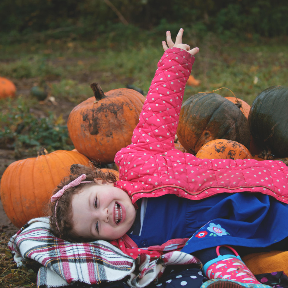 Relaxed Pumpkin Family Portraits
